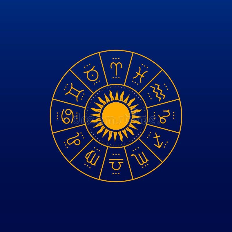 Icône/logo d'horoscope Illustration d'art illustration libre de droits