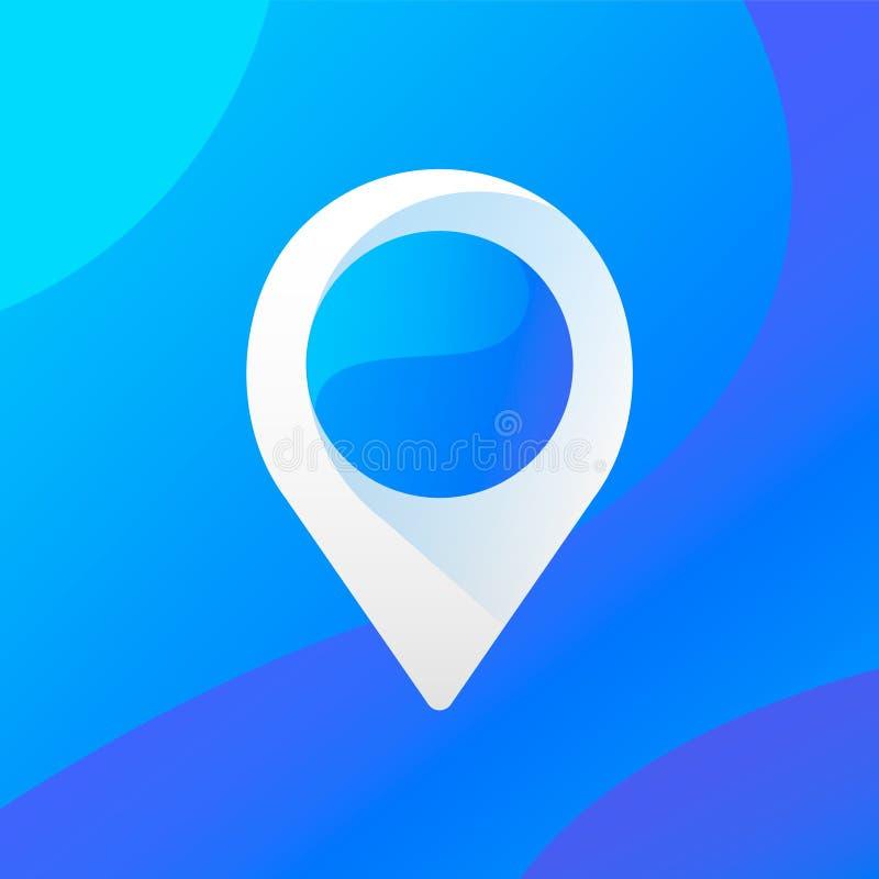 Icône/logo de point Conception d'UI illustration de vecteur