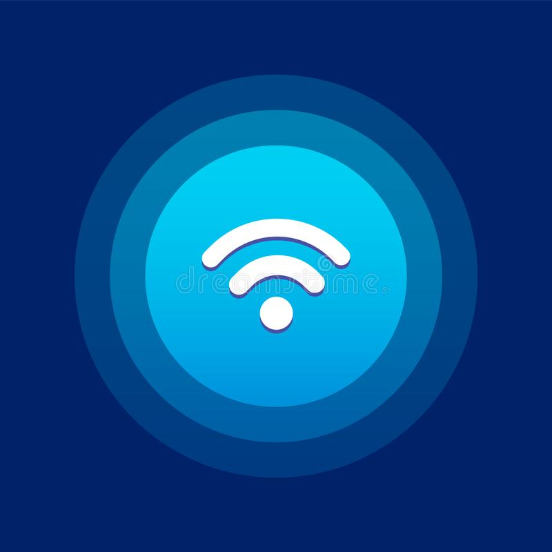 Icône/logo de Wifi Conception d'UI illustration stock