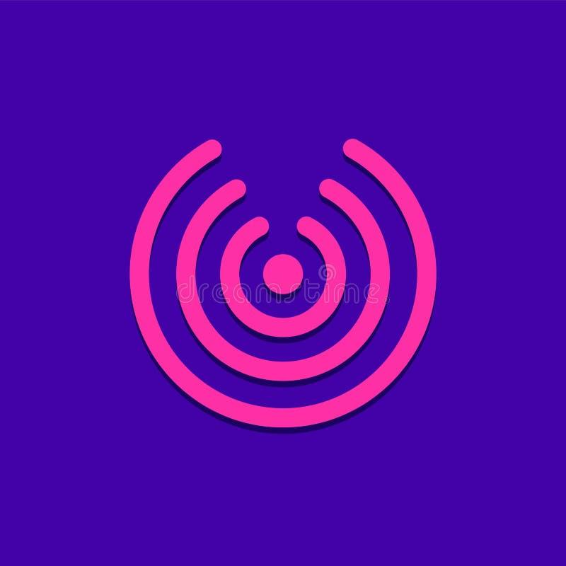 Icône/logo de Wifi Conception d'UI illustration stock