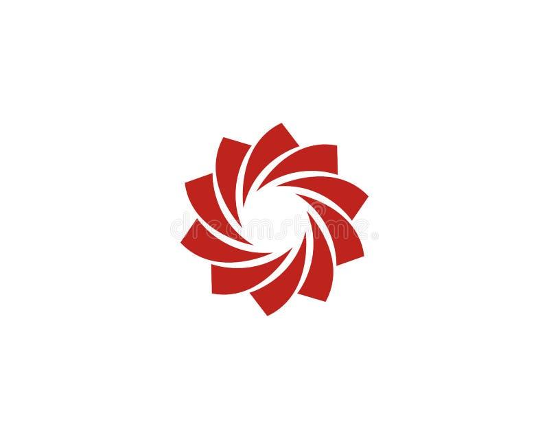 Icône Logo Template d'illustration de vecteur de vortex illustration stock