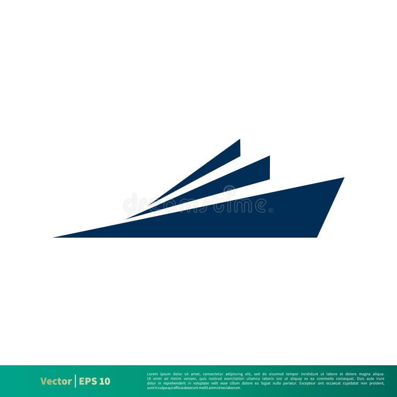 Icône Logo Template Illustration Design de vecteur de bruissement de bateau Vecteur ENV 10 illustration de vecteur