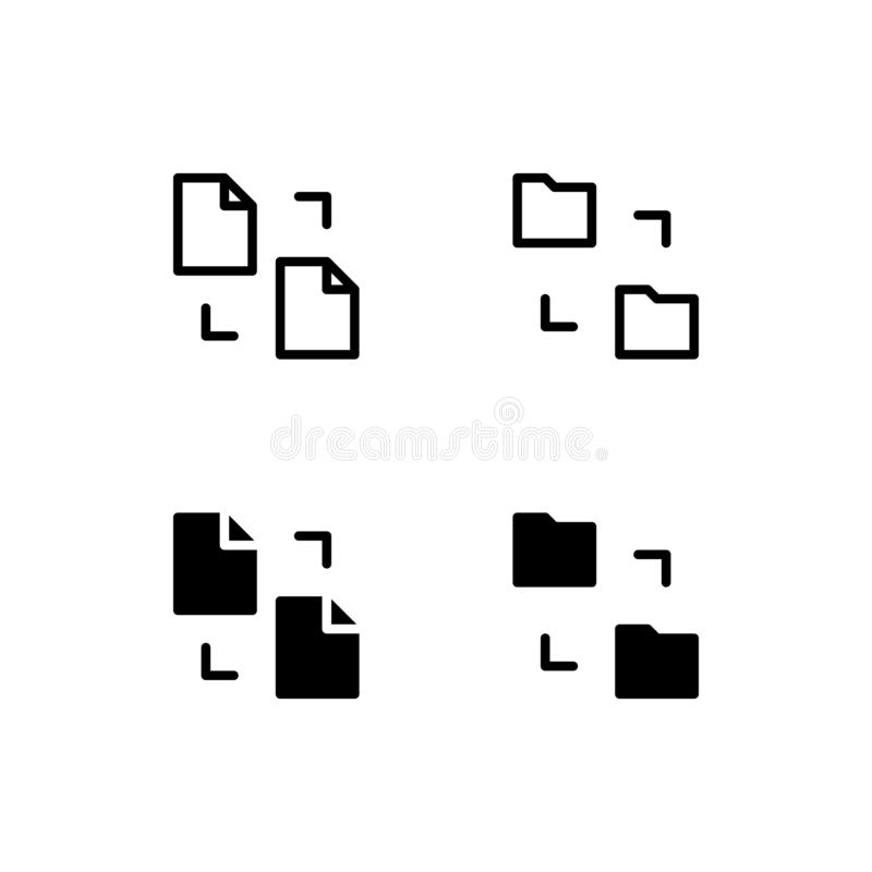 Icône Logo Vector Symbol de partage de fichiers Dossier partageant l'icône d'isolement sur le fond blanc illustration libre de droits