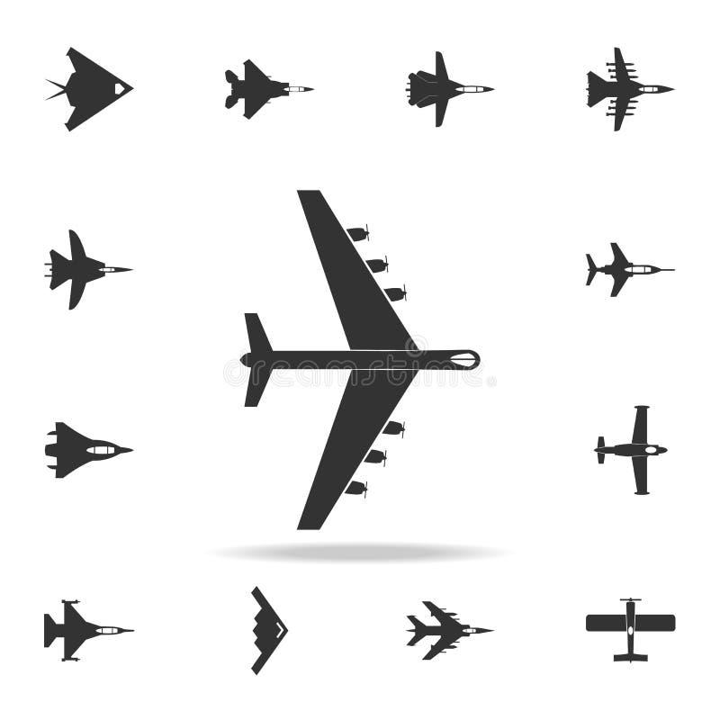 Icône lourde d'avions militaires Ensemble détaillé d'icônes d'avion d'armée Conception graphique de la meilleure qualité Une des  illustration stock