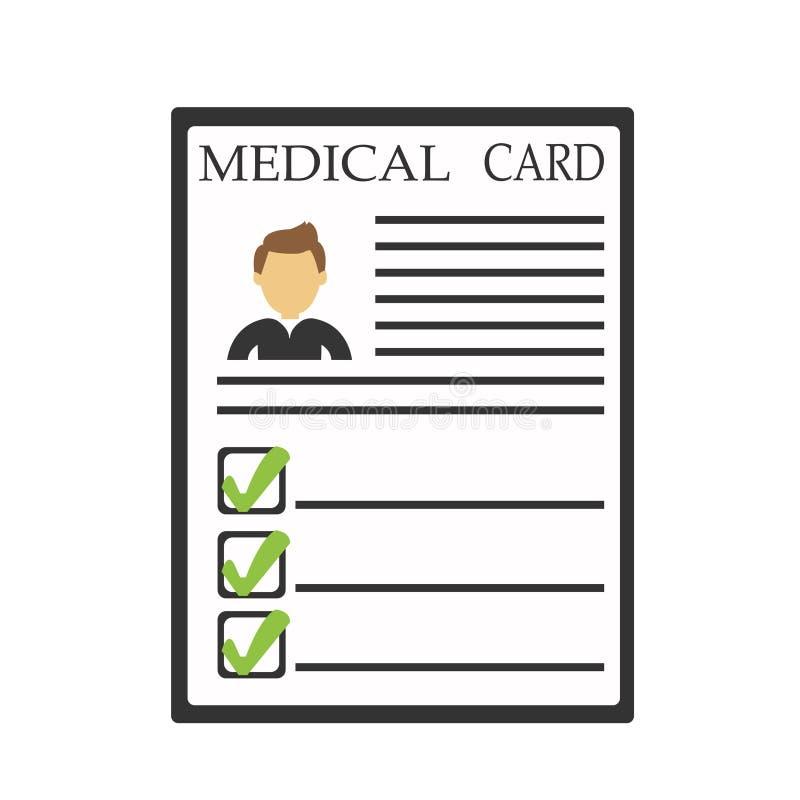 Icône médicale de carte illustration libre de droits