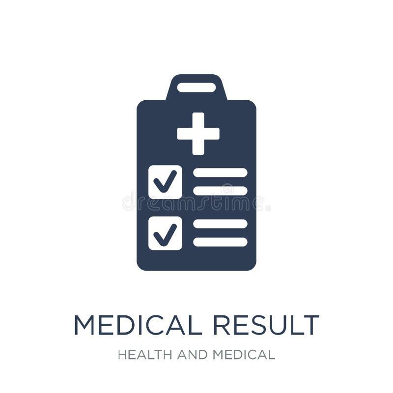 icône médicale de résultat Icône médicale de résultat de vecteur plat à la mode sur W illustration stock