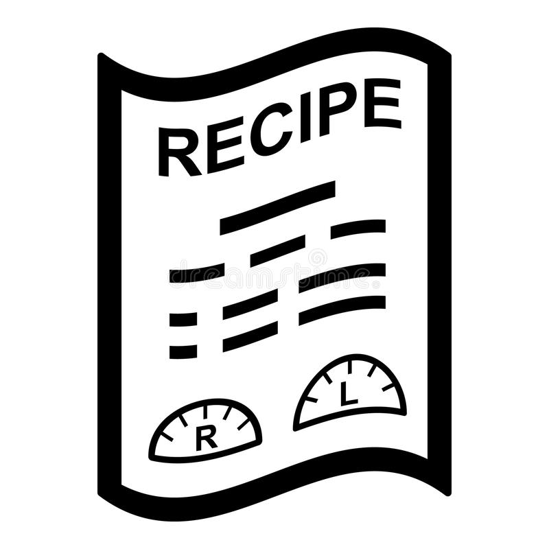Icône médicale de recette, style simple illustration libre de droits