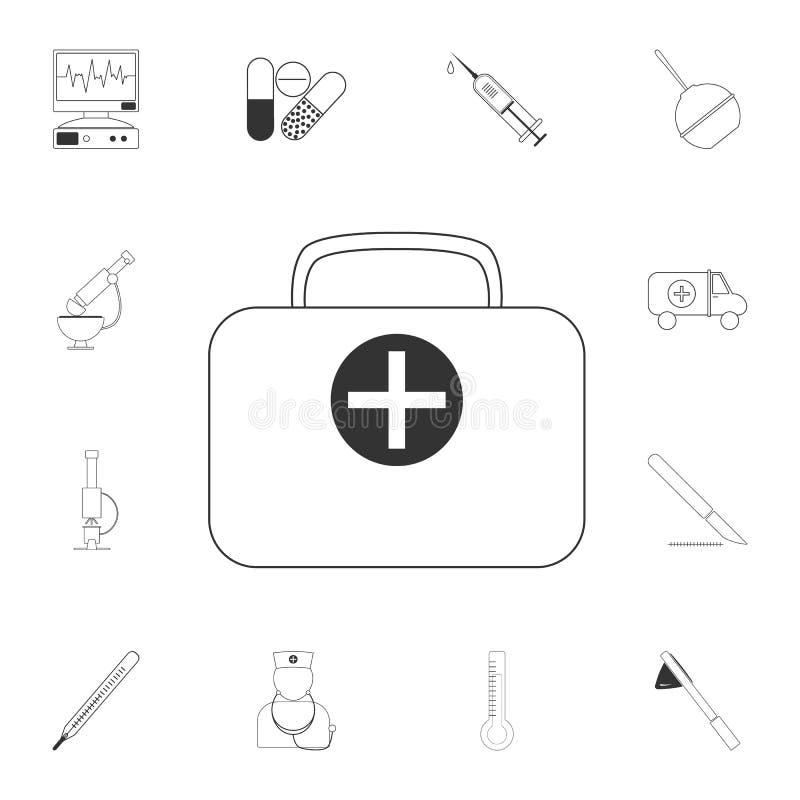 Icône médicale de sac Illustration simple d'élément Conception médicale de symbole de sac d'ensemble médical de collection Peut ê illustration stock