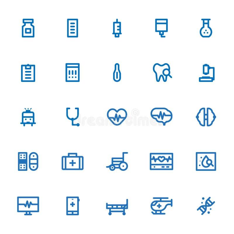 Icône médicale et de santé d'ensemble illustration de vecteur