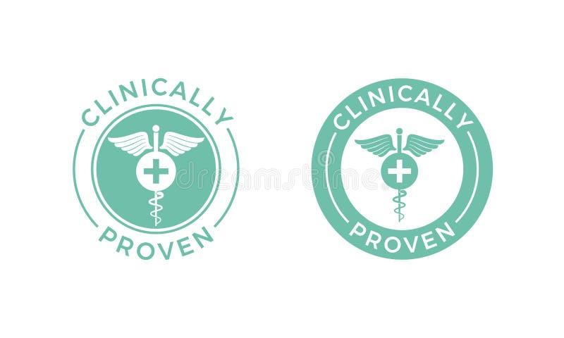 Icône médicale médicalement prouvée de caducée de vecteur illustration stock