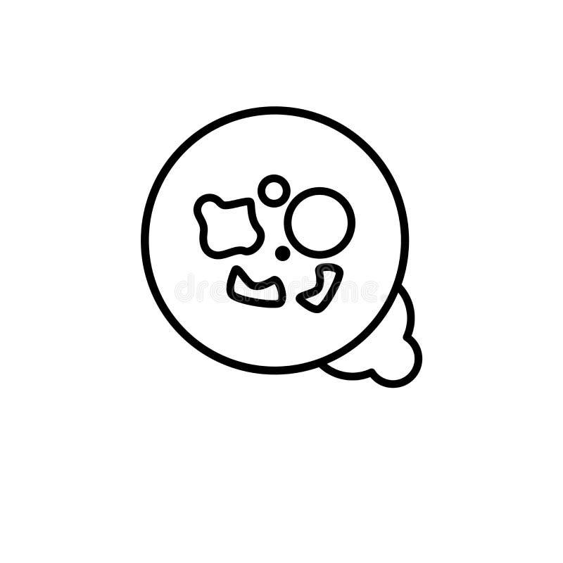 icône Méthicilline-résistante de Staphylococcus aureus (MRSA) trendy illustration stock