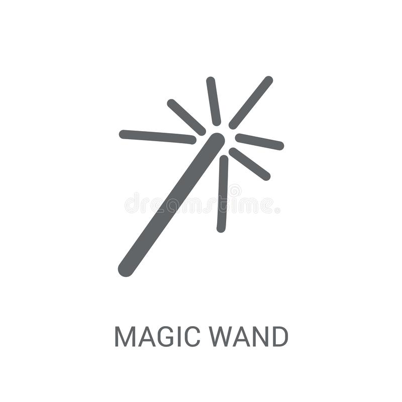 Icône magique de baguette magique  illustration stock