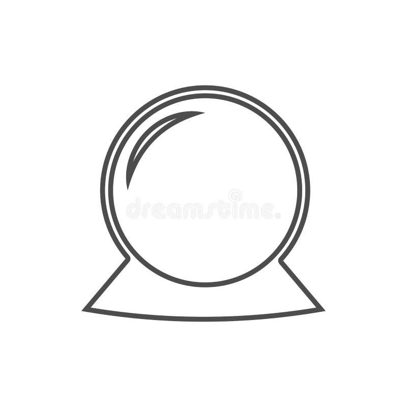Icône magique de boule Élément de sécurité de cyber pour le concept et l'icône mobiles d'applis de Web Ligne mince icône pour la  illustration libre de droits