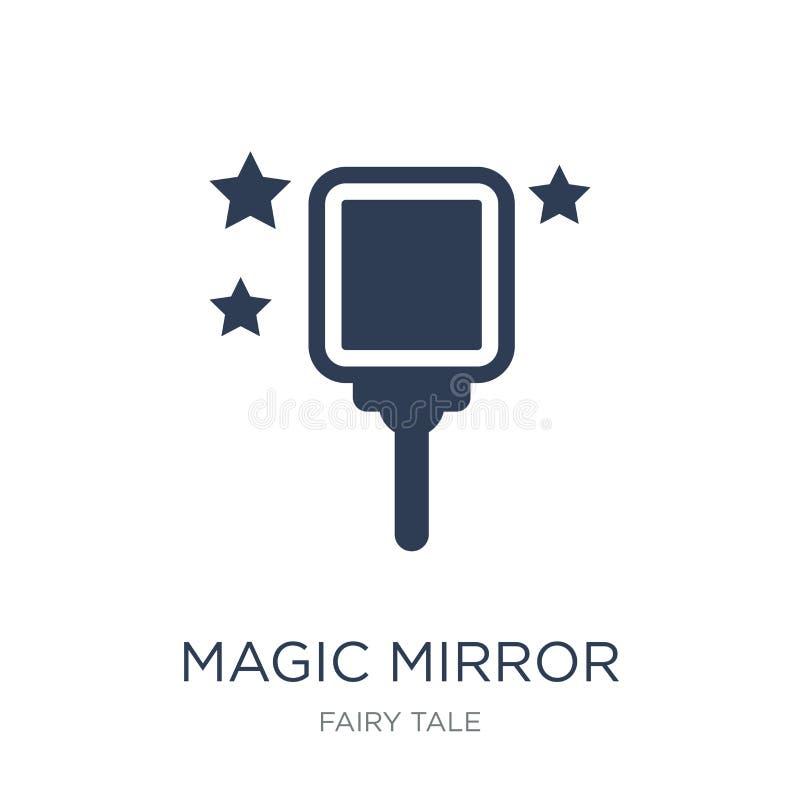 icône magique de miroir  illustration de vecteur