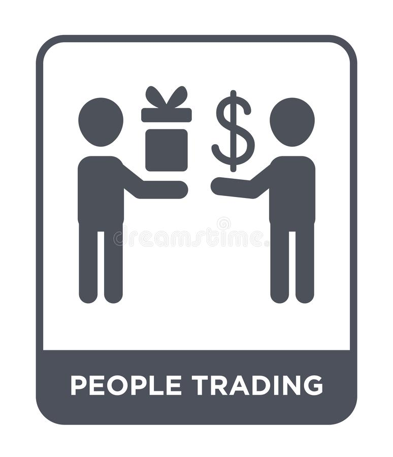 icône marchande de personnes dans le style à la mode de conception icône marchande de personnes d'isolement sur le fond blanc icô illustration stock