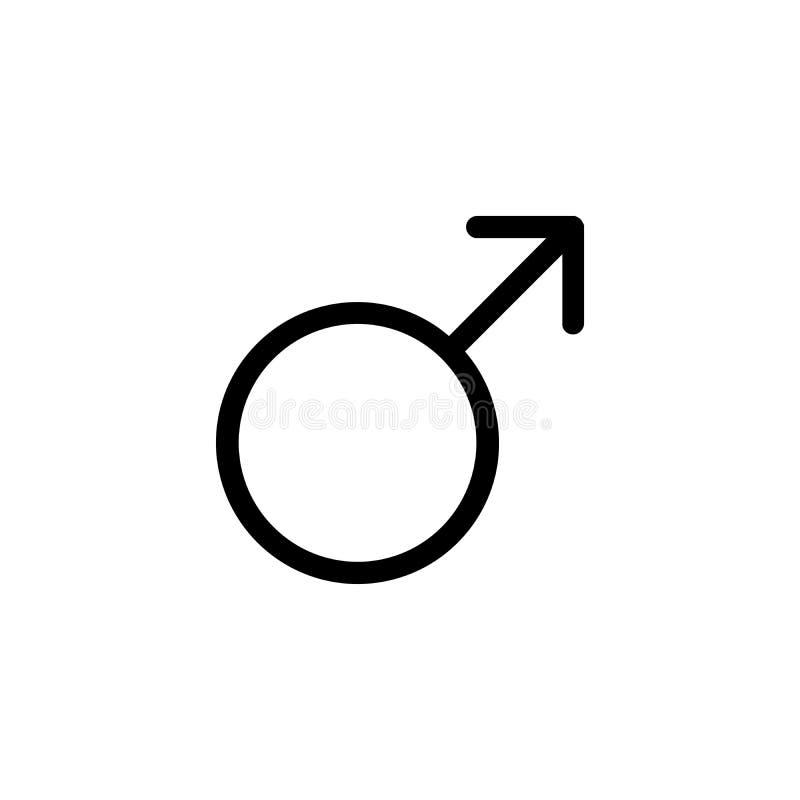 Icône masculine de genre illustration stock