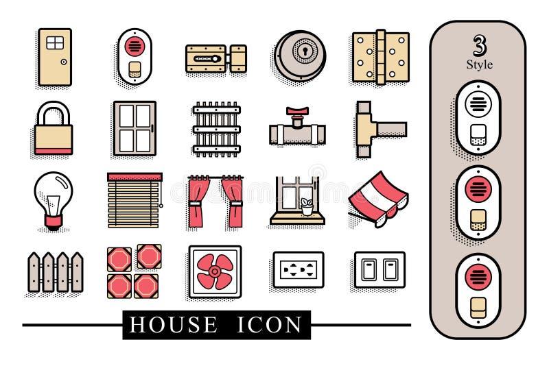 Icône matérielle de Chambre Le dossier a des couches distinctes illustration libre de droits