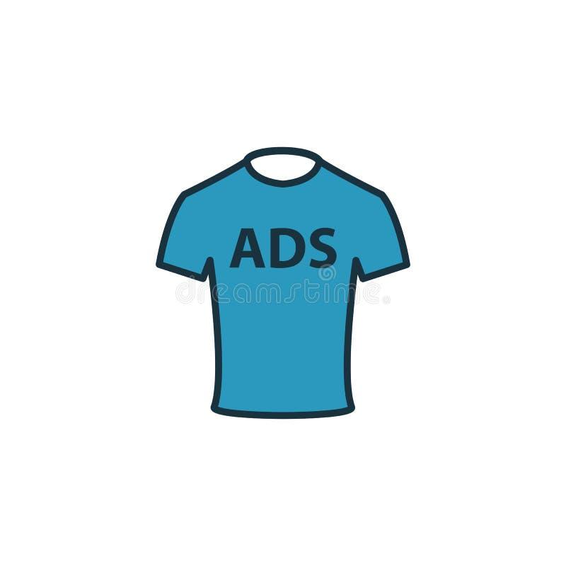Icône Merch Advertising Elément créatif rempli à partir de la collection d'icônes publicitaires Icône publicitaire haut de gamme  illustration stock