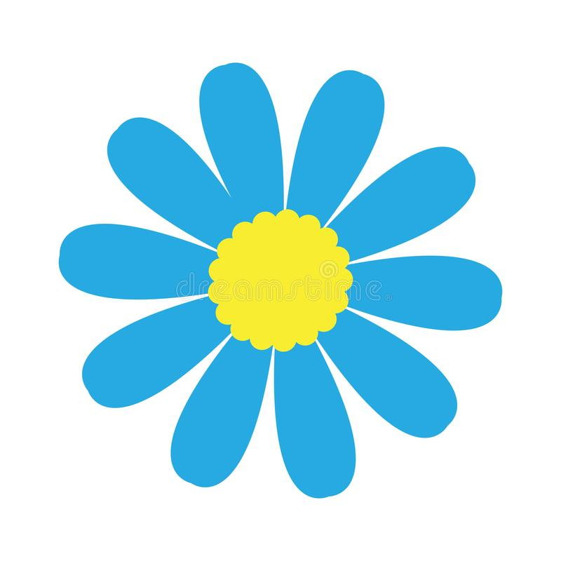 Icône mignonne de fleur illustration de vecteur