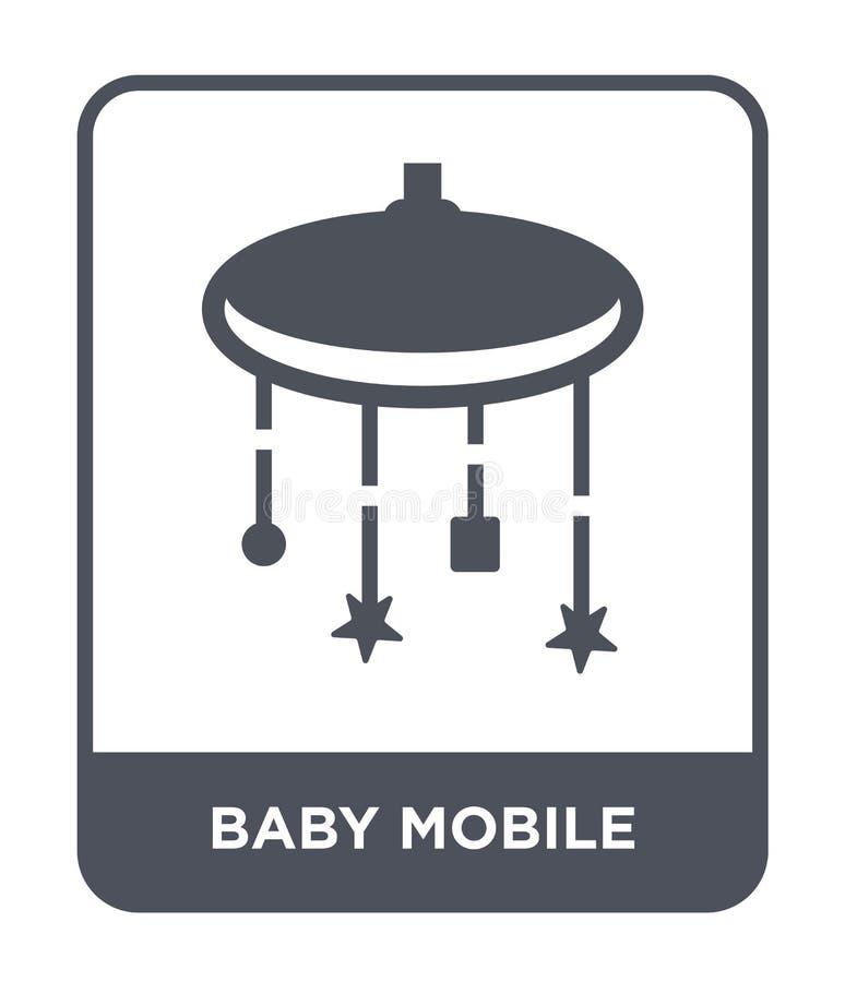 icône mobile de bébé dans le style à la mode de conception icône mobile de bébé d'isolement sur le fond blanc icône mobile de vec illustration de vecteur