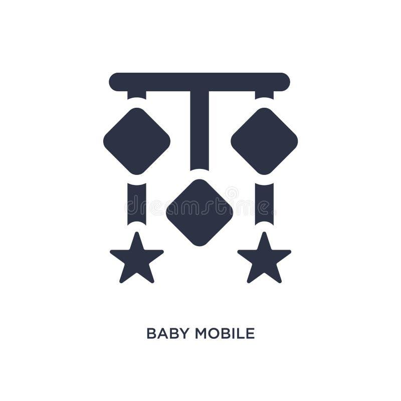 icône mobile de bébé sur le fond blanc Illustration simple d'élément des enfants et de concept de bébé illustration libre de droits