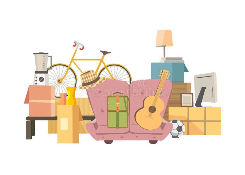 Icône mobile de boîtes illustration de vecteur