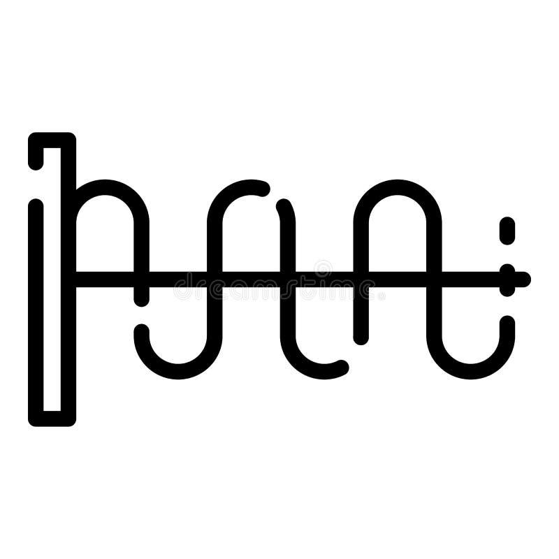 Icône modèle d'onde sonore, style d'ensemble illustration stock