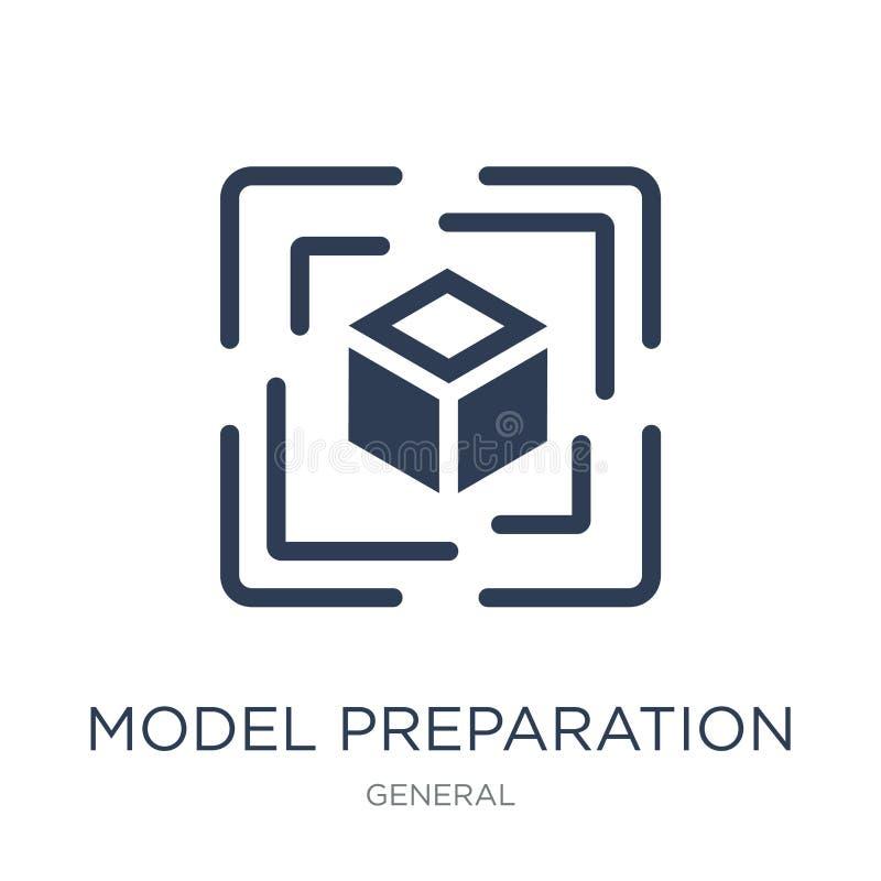 icône modèle de préparation Ico plat à la mode de préparation de modèle de vecteur illustration libre de droits