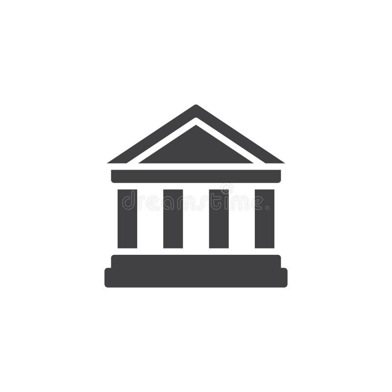 Icône modèle de vecteur de parthenon illustration libre de droits