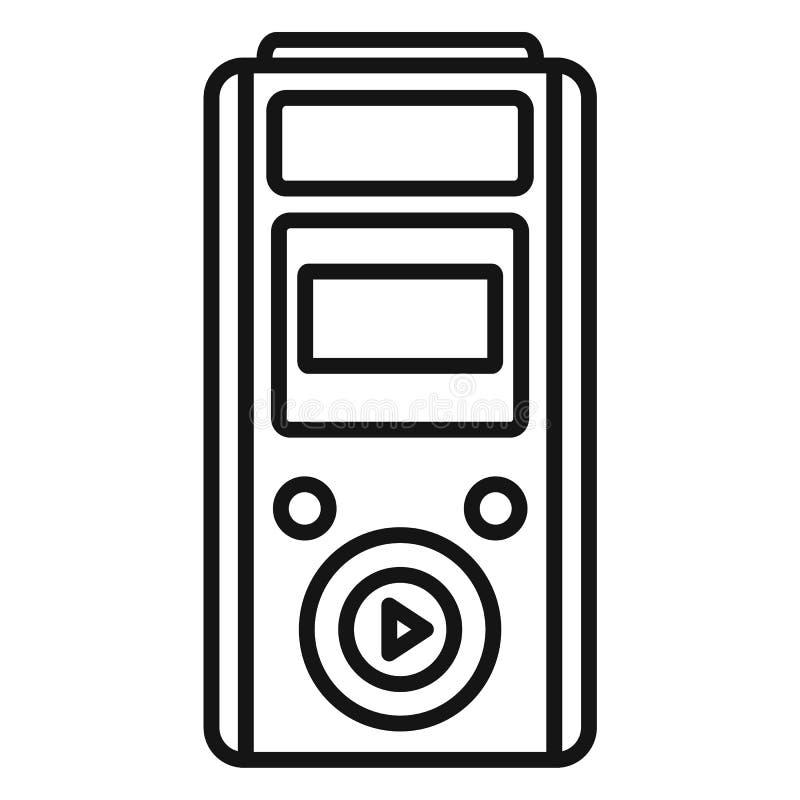 Icône moderne de dictaphone, style d'ensemble illustration stock