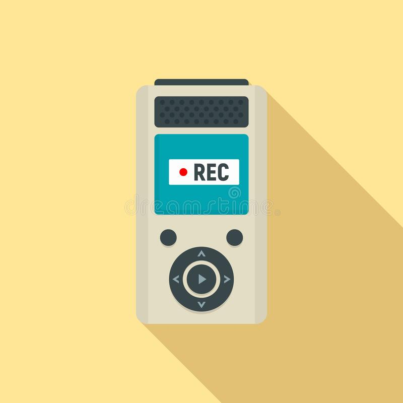 Icône moderne de dictaphone, style plat illustration libre de droits