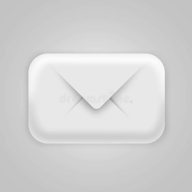Icône moderne de l'email 3d Concept de courrier, de Spam ou de lettre illustration de vecteur