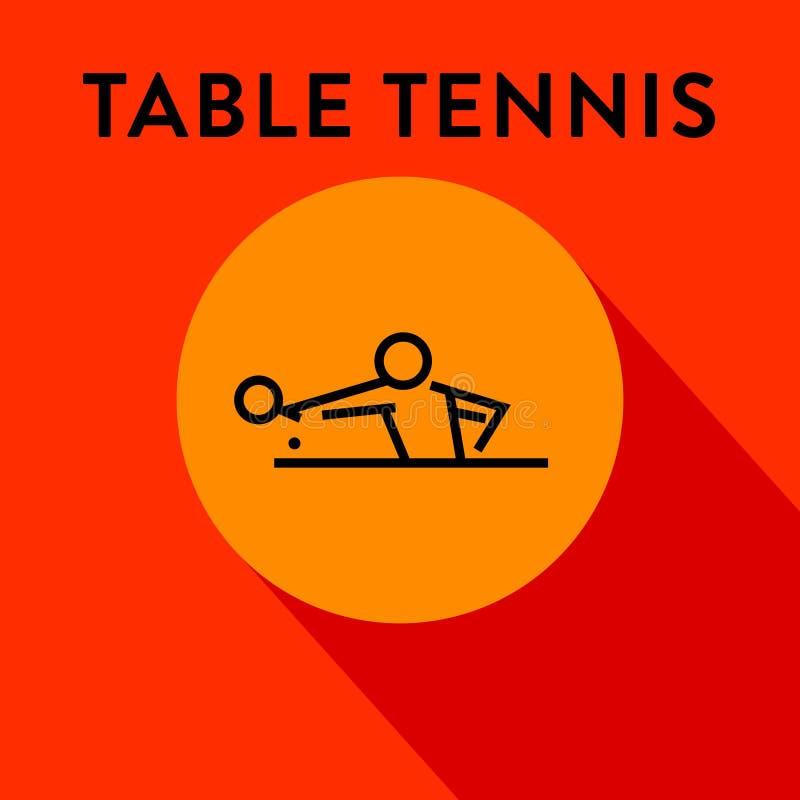 Icône moderne de ping-pong avec le vecteur linéaire illustration stock