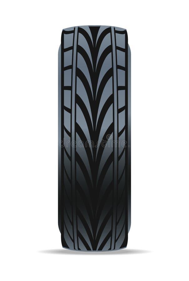 Icône moderne de pneu de voiture rapide illustration stock