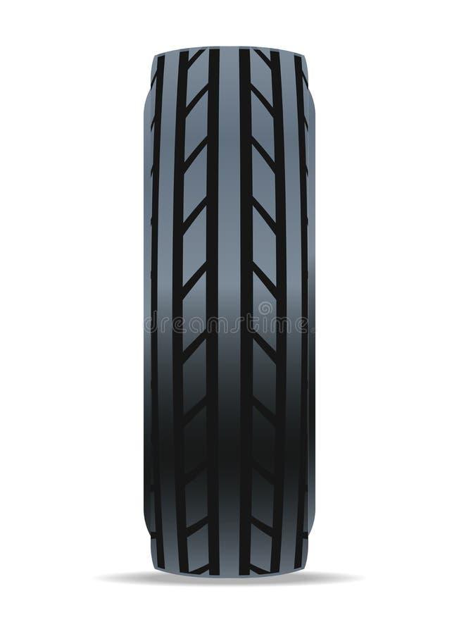 Icône moderne de pneu de voiture de route illustration stock