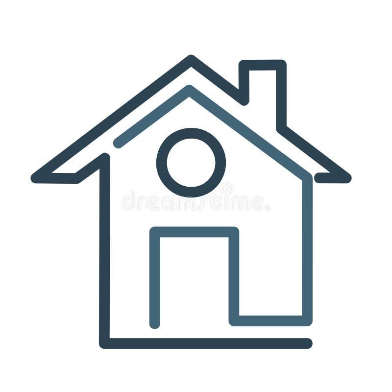 Icône moderne de symbole de maison, illustration plate de vecteur illustration de vecteur
