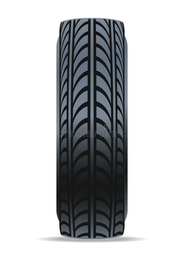 Icône moderne de vecteur de pneu automatique illustration stock