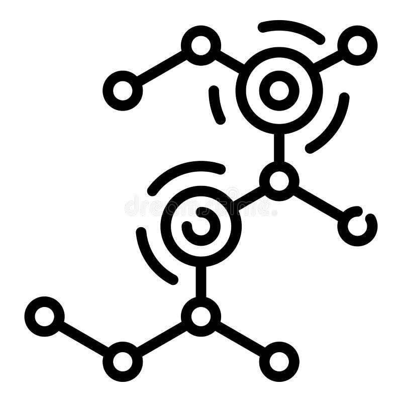 Icône moléculaire de déséquilibre, style d'ensemble illustration stock