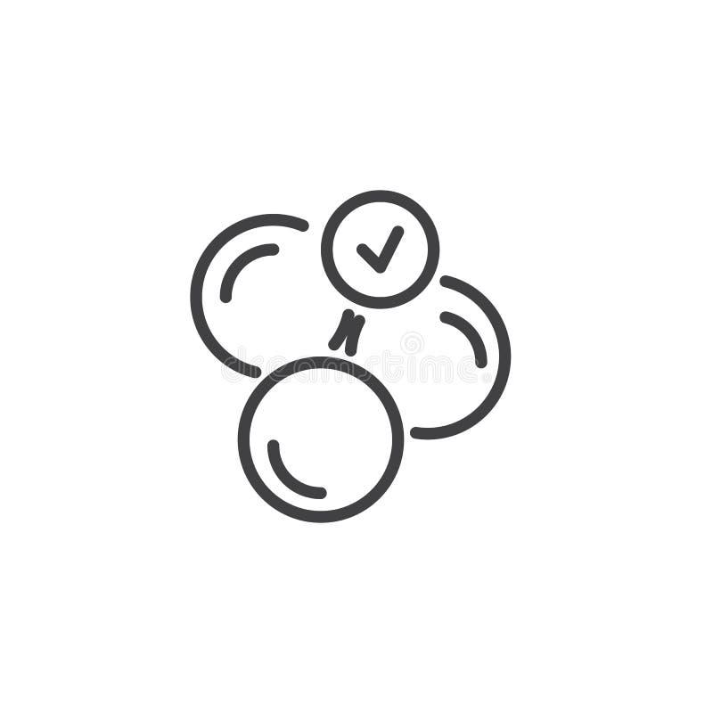 Icône molle d'ensemble de capsules illustration stock
