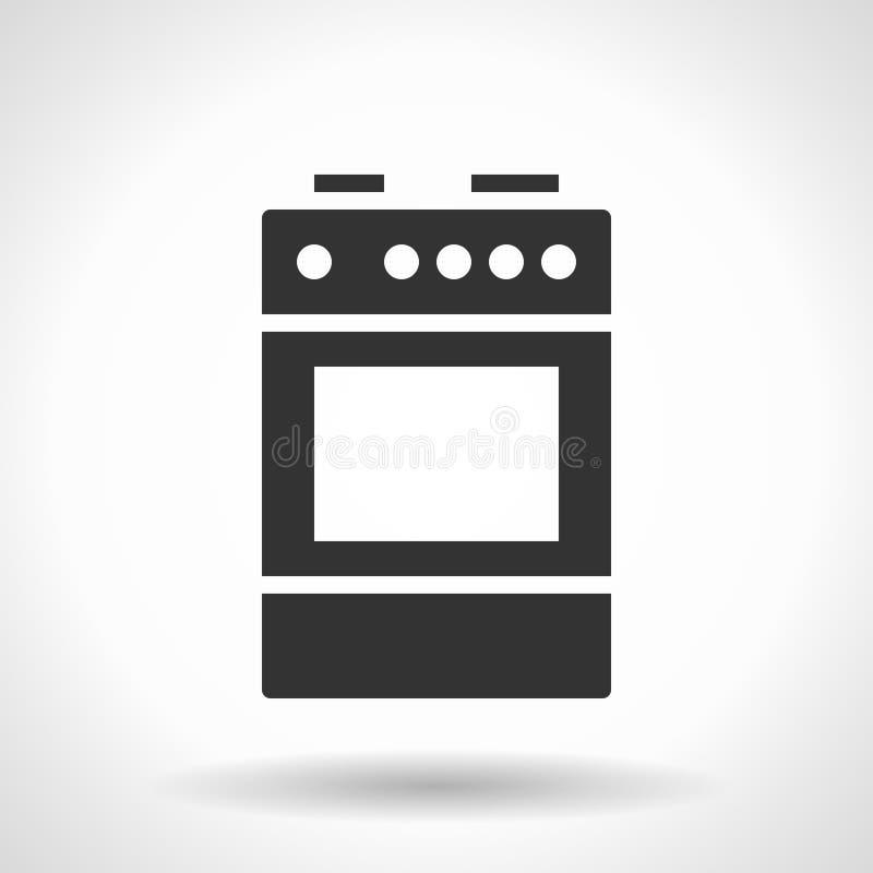 Icône monochromatique de cuiseur illustration stock