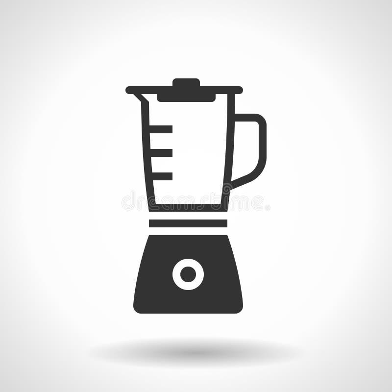 Icône monochromatique de mélangeur illustration stock