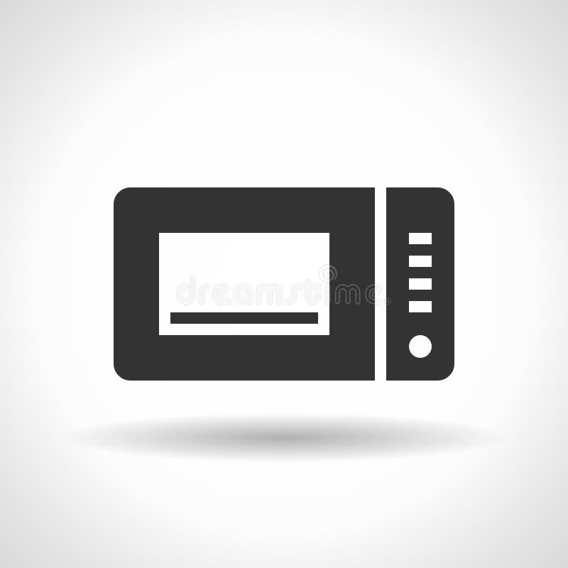 Icône monochromatique de micro-onde illustration libre de droits