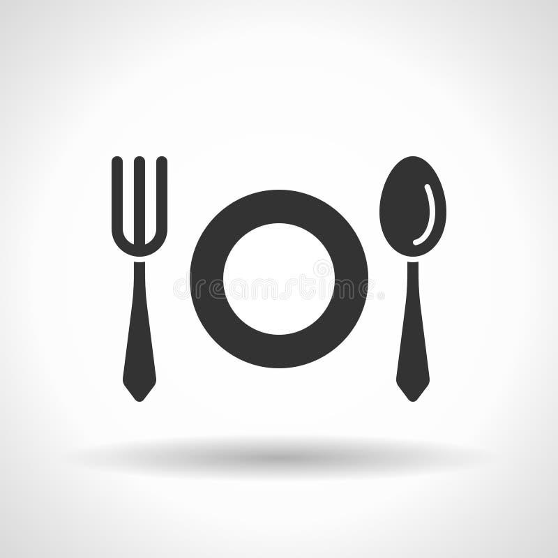 Icône monochromatique de vaisselle illustration de vecteur