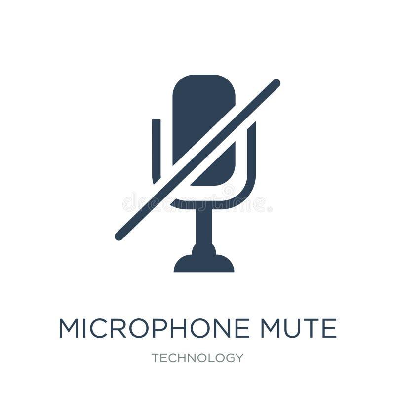 icône muette de microphone dans le style à la mode de conception icône muette de microphone d'isolement sur le fond blanc icône m illustration stock