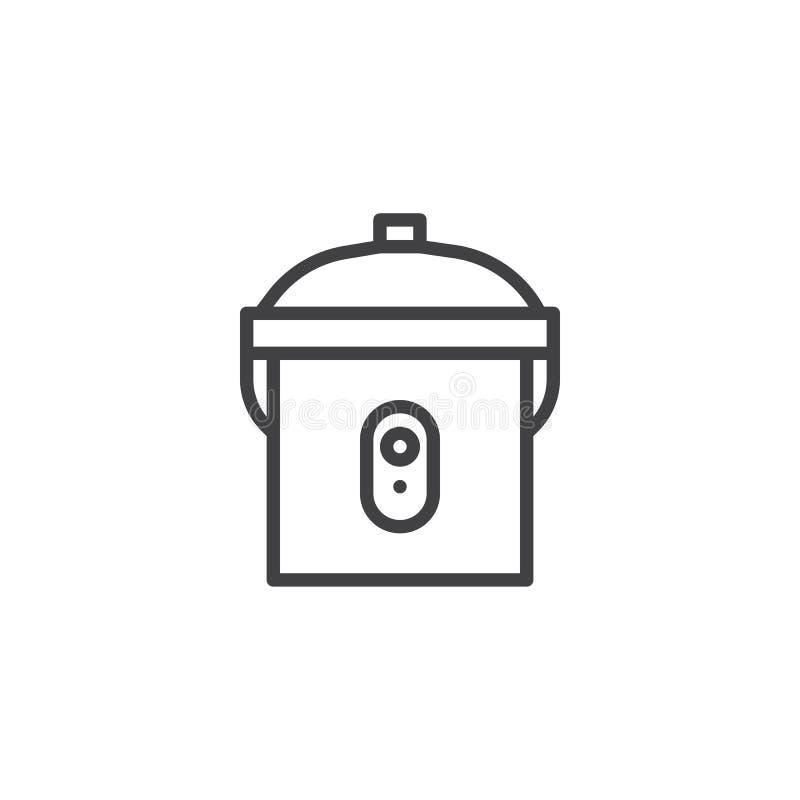 Icône multi d'ensemble de cuiseur illustration de vecteur