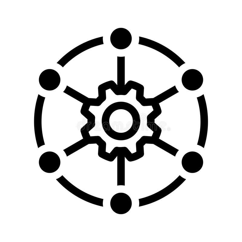 Icône multi de canal, illustration de vecteur illustration stock