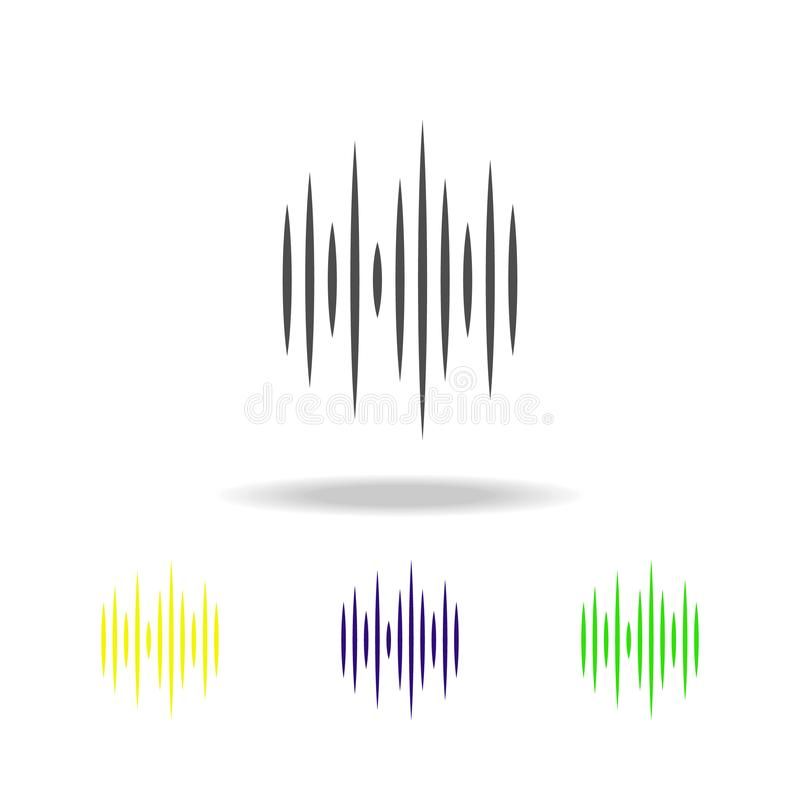 icône multicolore d'ondes sonores Élément des icônes de Web Signes et icône de symboles pour des sites Web, conception web, appli illustration de vecteur