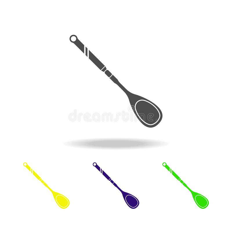 icône multicolore de cuillère en bois Élément d'icône multicolore de vaisselle de cuisine Des signes, icône de collection de symb illustration de vecteur