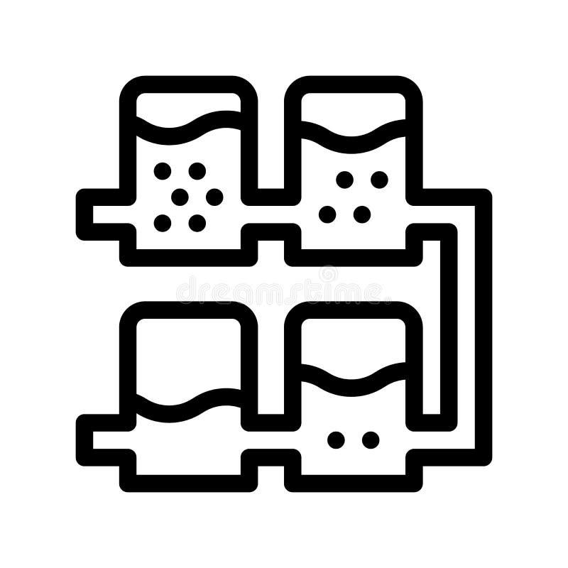 Icône multiple de vecteur de traitement de l'eau de système de rangée illustration de vecteur