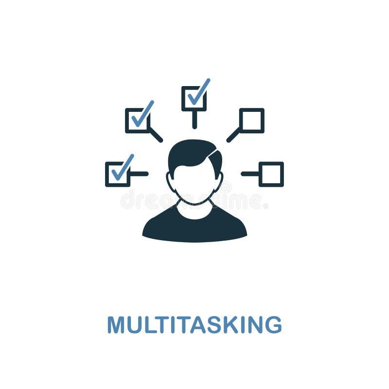 Icône multitâche Conception de la meilleure qualité de deux couleurs de collection d'icônes de gestion Icône multitâche de pictog illustration de vecteur